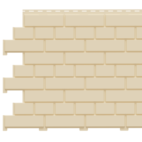 Фасадная панель Доломит под кирпич Шампань