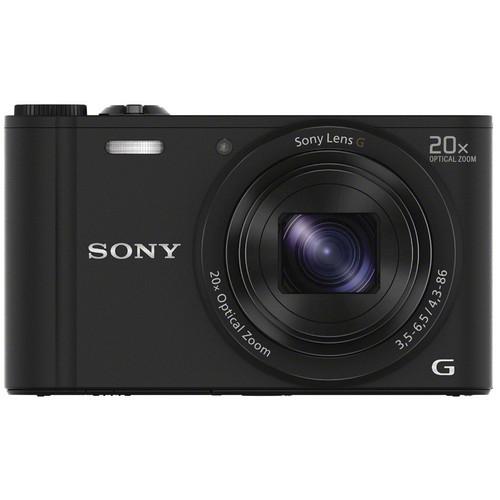 Купить Sony DSC-WX350B чёрного цвета в официальном магазине