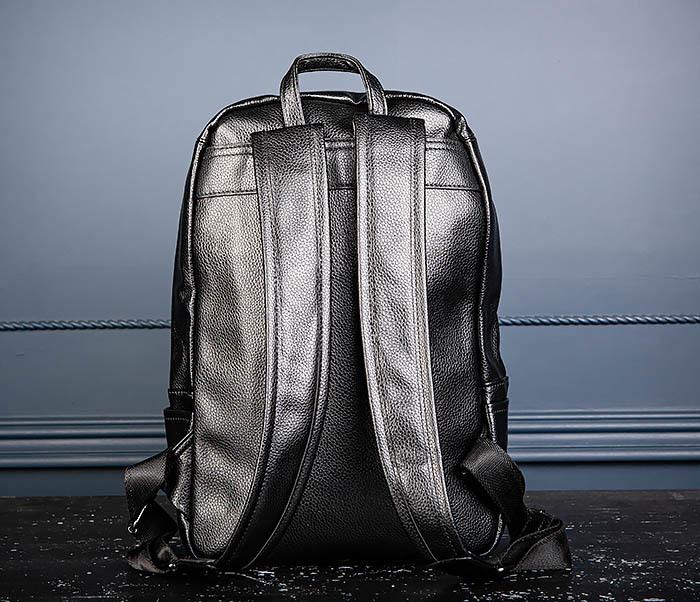 BAG558 Кожаный мужской рюкзак для города фото 06