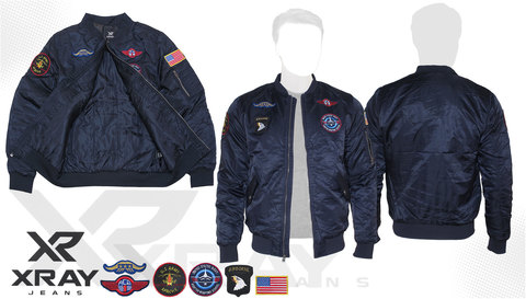 Куртка утеплённая 'MA-1 With Patches' Navy