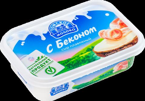 """Сыр плавленный """"Томское молоко"""" с беконом 180г"""