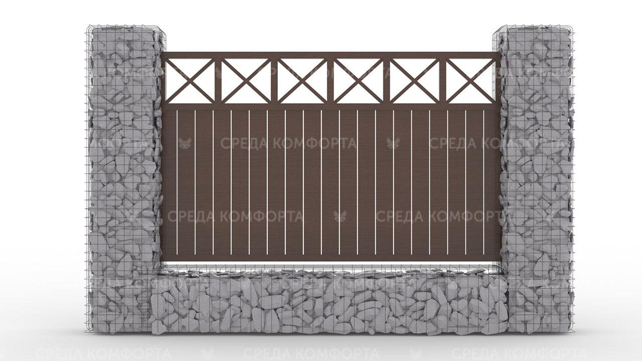 Деревянный забор ZBR0097