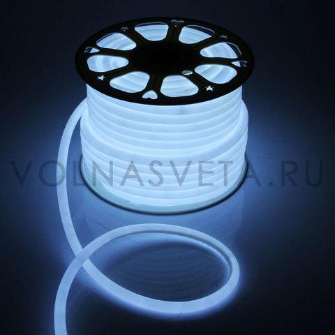Гибкий неон D16 - круглый, светодиодный | Белый - 50м
