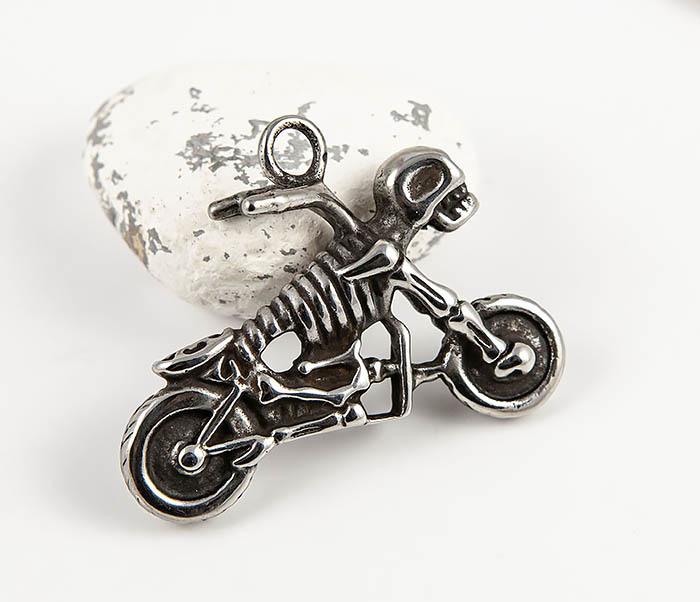 PM130 Мужская подвеска из стали в виде мотоцикла чоппера фото 02