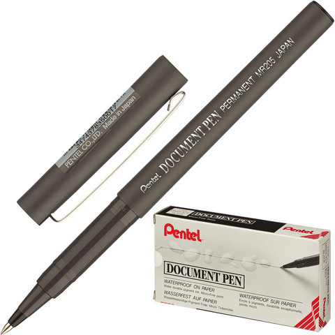 Роллер Pentel Document Pen черный (толщина линии 0.25 мм)