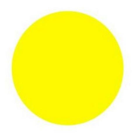 Знак безопасности Жёлтый круг на двери (плёнка, D150) уп.10шт