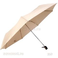 Женский зонтик Tri Slona L3706 автомат Эпонж кремовый с узорами