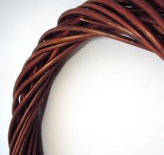 Венок плетеный из лозы натуральный, 25 см, 1 шт.