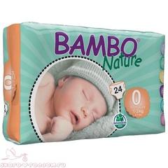 Bambo Nature. Подгузники Premature 0 (1-3 кг), 1уп/24 шт