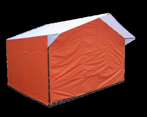 Стенка передняя к торговой палатке, с молниями