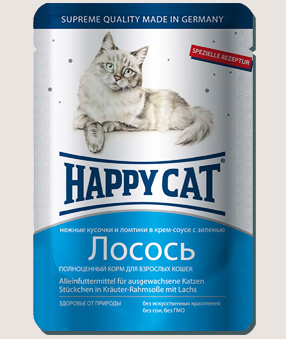Влажные корма Пауч для кошек Happy Cat лосось ломтики в соусе 9k_-8.jpg