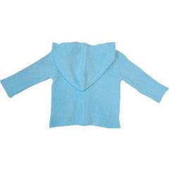 Папитто. Кофточка с капюшоном и карманами, голубой вид 2