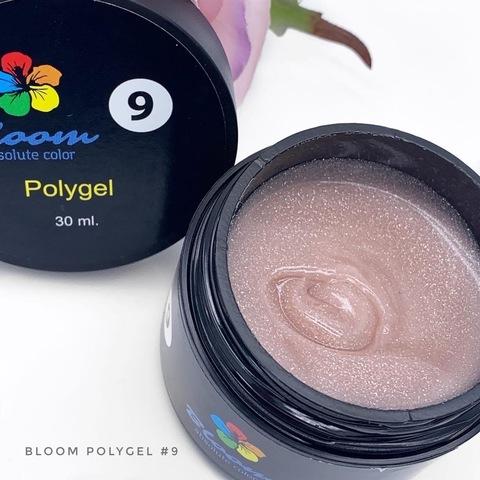 Poly Gel Bloom №9 Искрящийся светло-розовый 30мл