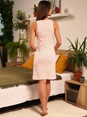 Мамаландия. Сорочка для беременных и кормящих с V-образным вырезом, горох/розовый