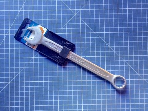 Ключ комбинированный КОБАЛЬТ 19 мм Cr-V (1 шт.) подвес