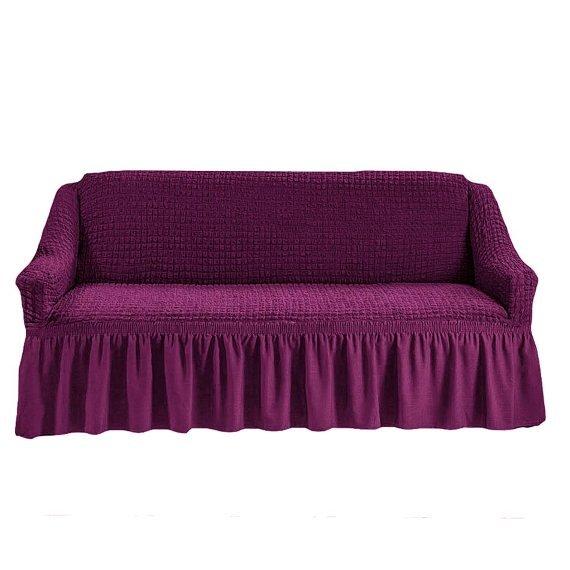Чехол на трехместный диван, фиолетовый