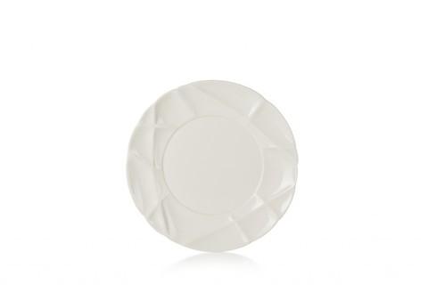 Фарфоровая десертная тарелка  21 см, белая, артикул 650730, серия Succession