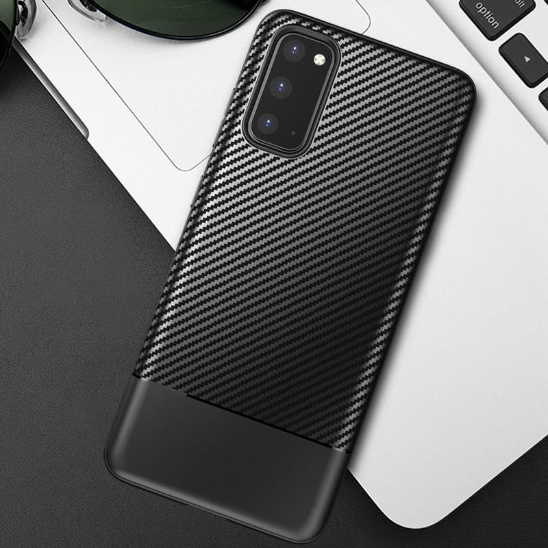 Чехол в стиле карбон на Samsung Galaxy S20, серии Fit от Caseport