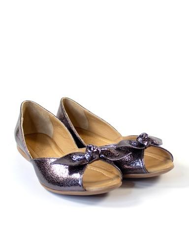 серебристые балетки Mario Muzi