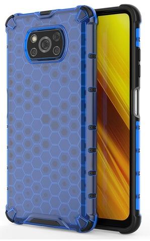 Защитный чехол в синем корпусе для Xiaomi Poco X3 NFC от Caseport, серия Honey