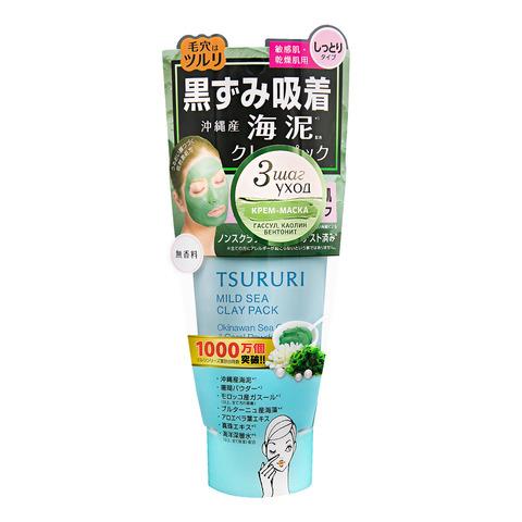 TSURURI Крем-маска для лица с белой глиной, коралловой пудрой и морскими водорослями 150 г