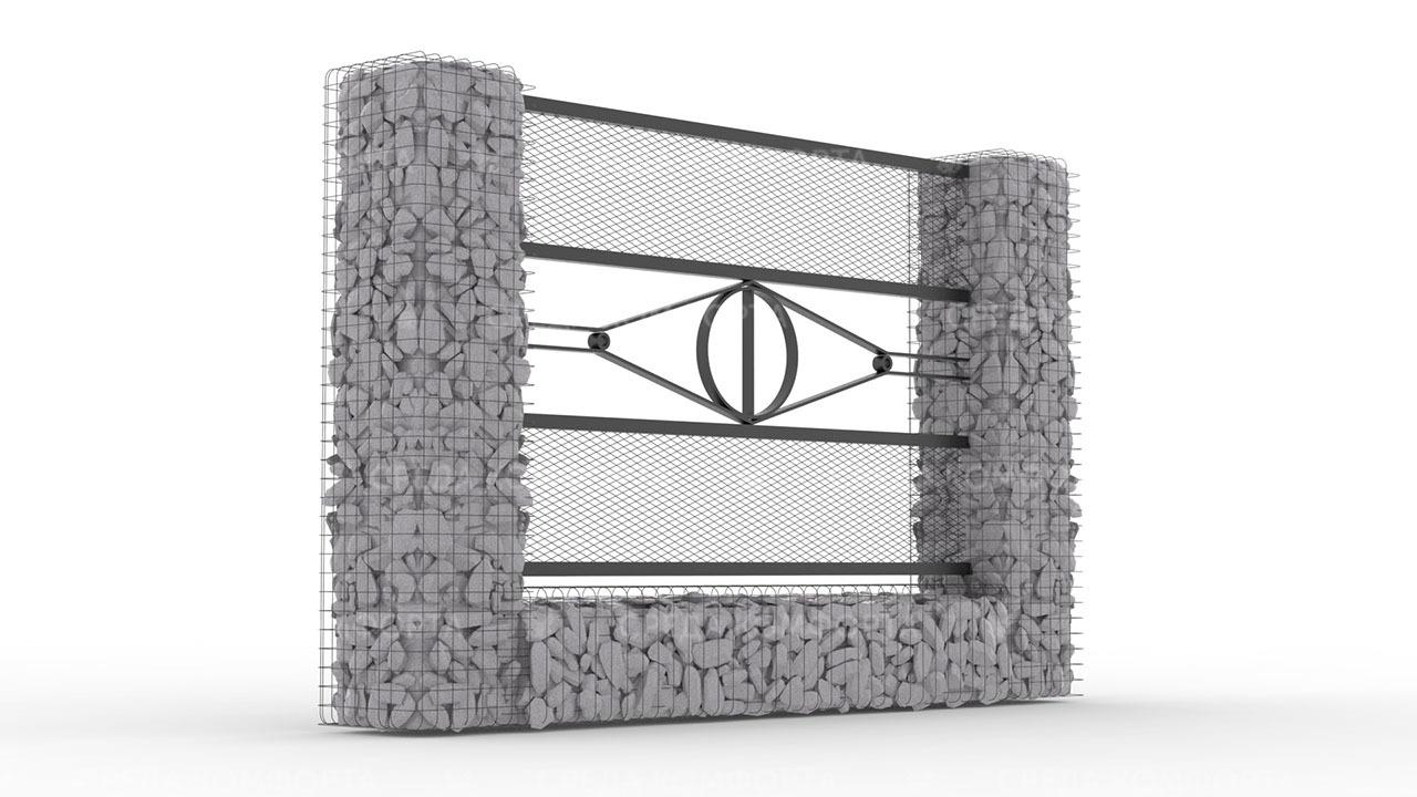 Забор из сетки рабицы ZBR0180
