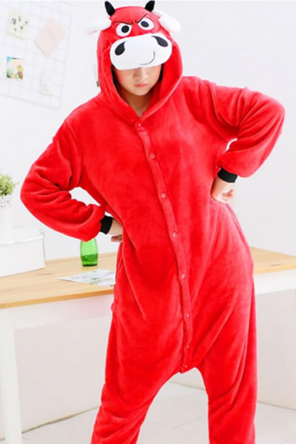 Пижамы кигуруми Красный Бык Бык.jpg
