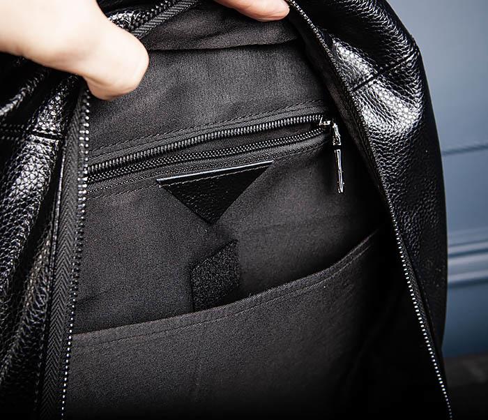 BAG558 Кожаный мужской рюкзак для города фото 09