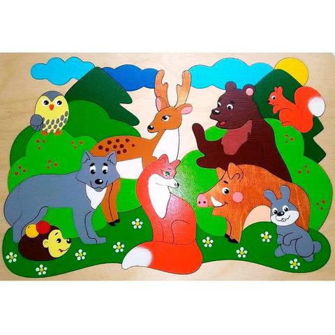 Мозаика-вкладыш Лесные звери, Крона 143-069