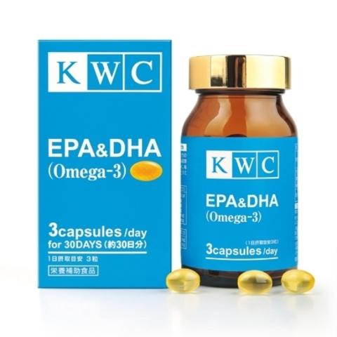 Омега-3 EPA & DHC, KWC, 90 капсул