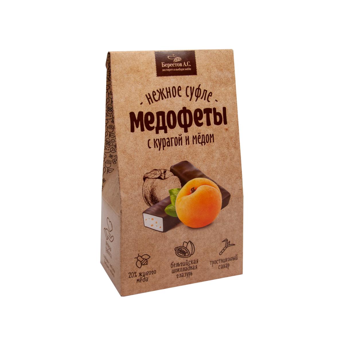 Медофеты Суфле с курагой и медом в шоколадной глазури Galagancha 150 г