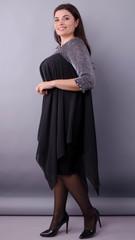 Эдем. Роскошное платье для пышных дам. Черный.