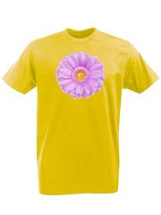 Футболка с принтом Цветы (Герберы) желтая 001