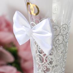 Набор свадебных бокалов «Бант», чёрно-белый, фото 3