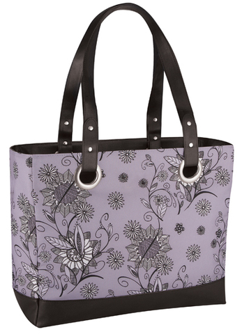 Термосумка Thermos Raya Tote-Purple Flower (14 л.), фиолетовая