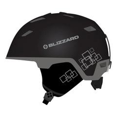Горнолыжный шлем Blizzard Double black matt/gun metal/silver squares