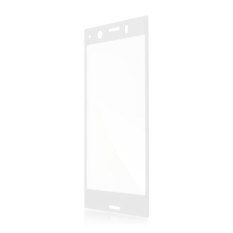 Защитное стекло полноэкранное для Xperia XZ1 Compact серебристого цвета