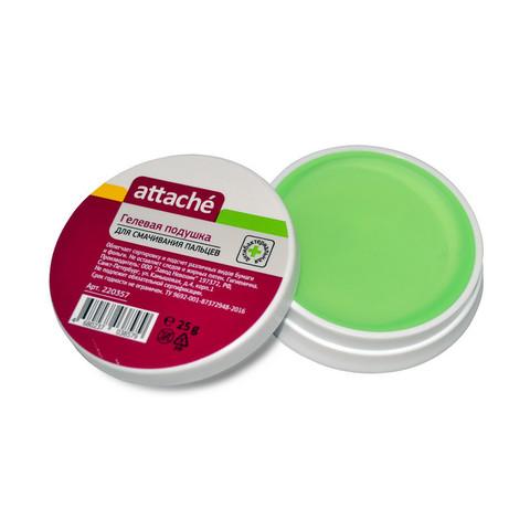 Подушка для смачивания пальцев гелевая Attache 25 мл