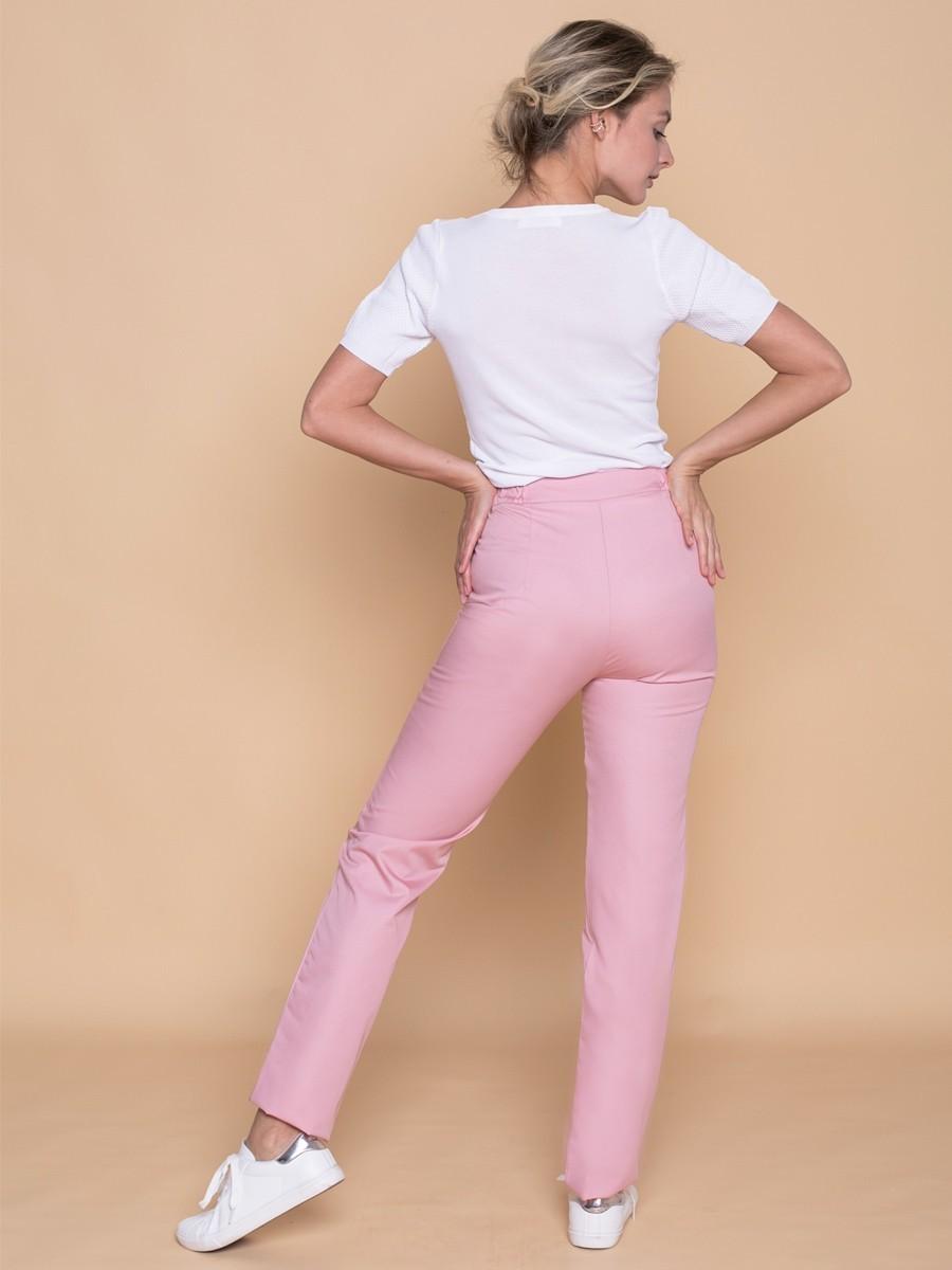 Брюки женские медицинские  Б-110 MediS.moda пудрово-розовый