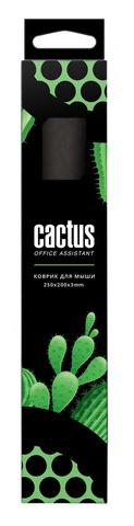 Коврик для мыши Cactus CS-MP-D01S Мини черный 250x200x3мм