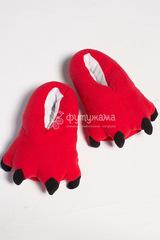 """Носочки домашние """"Лапки"""" красные"""