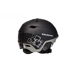 Горнолыжный шлем Blizzard Double black matt/gun metal/silver squares - 2