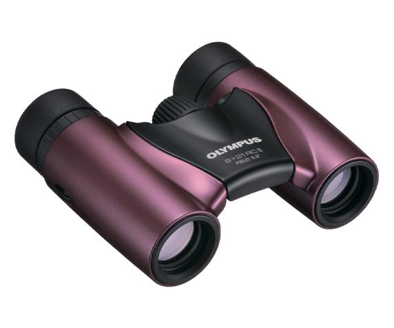 Бинокль Olympus 8x21 RC II, пурпурный - удобная регулировка межзрачкового расстояния