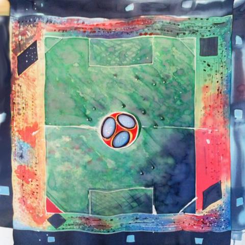 Шелковый платок футбол