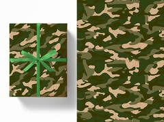 Бумага крафт, Милитари! 100см х 70см,  5 листов.