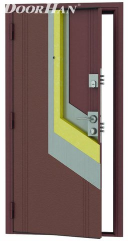 Стальные двери «Премьера Плюс» D-980-S, левая DoorHan (Россия)
