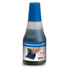 Краска штемпельная Colop 801 синяя на водно-глицериновой основе 25 г