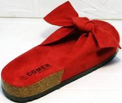 Удобные сандалии шлепанцы ортопедические женские Comer SAR-15 Red.