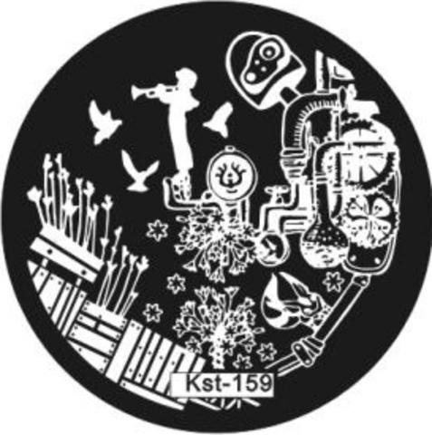 El Corazon Плитка для стемпинга диск Kst-159