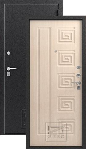 Дверь входная Зевс Z-4, 2 замка, 1,5 мм  металл, (серебро+млечный дуб)